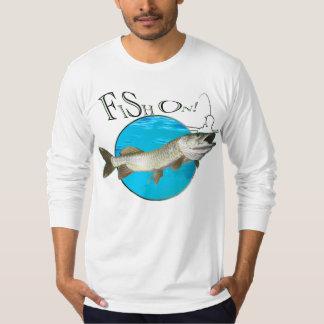 Almizclado, pescados encendido camisas