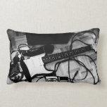"""Almofada """"Guitarra (Preto e branco)"""" Travesseiros De Decoração"""