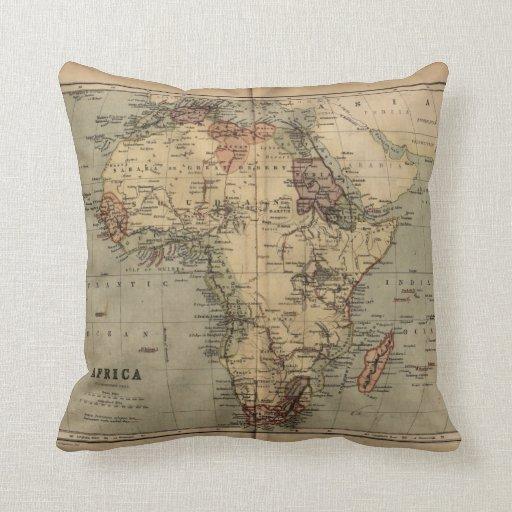 Almohada 1846 de tiro de África de la geografía