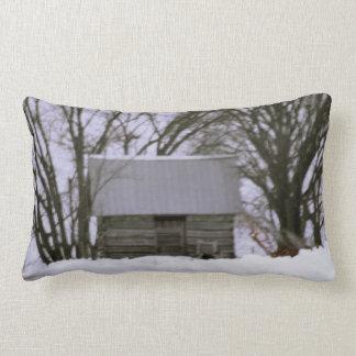 almohada 1850 de la cabaña de madera