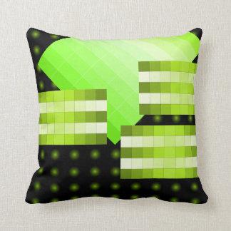Almohada 7b del diseño del color de la verde lima