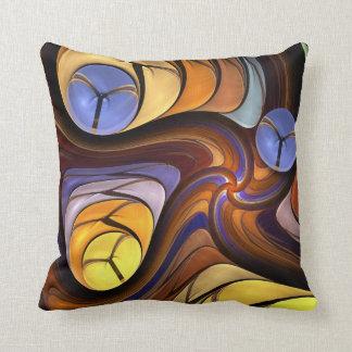 Almohada abstracta artística de las formas que rem