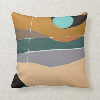 Almohada abstracta de la pintura de paisaje