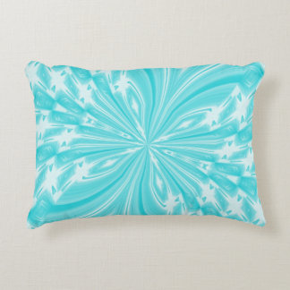 Almohada abstracta del acento de la aguamarina de cojín decorativo