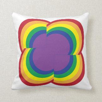 Almohada abstracta del arco iris
