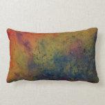 almohada abstracta del campo de color