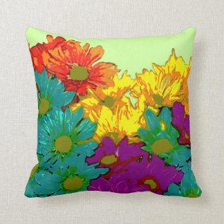 Almohada abstracta floral de MoJo del americano
