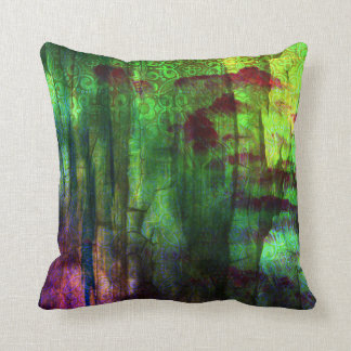 Almohada abstracta iridiscente bonita del diseño