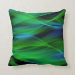 Almohada abstracta verde