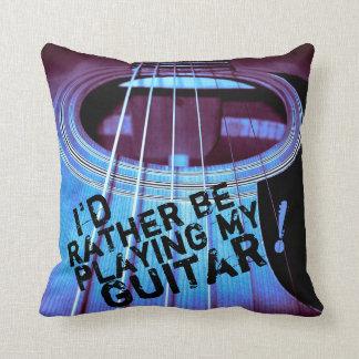 Almohada acústica púrpura/azul del lema de