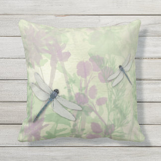 Almohada al aire libre de las libélulas azules cojín decorativo