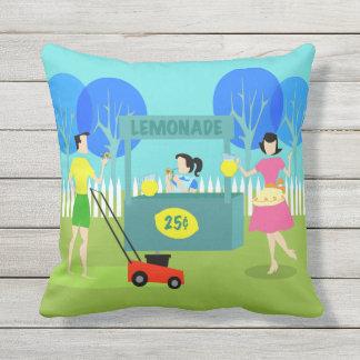 Almohada al aire libre del puesto de limonadas de
