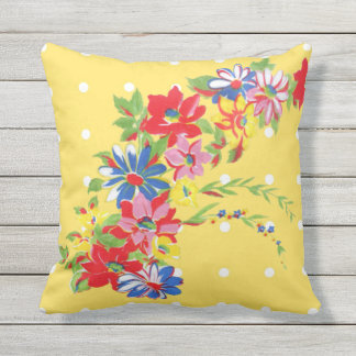 Almohada al aire libre floral del vintage cojín decorativo