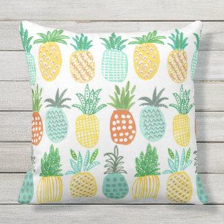 Almohada al aire libre tropical de la piña el | cojín decorativo