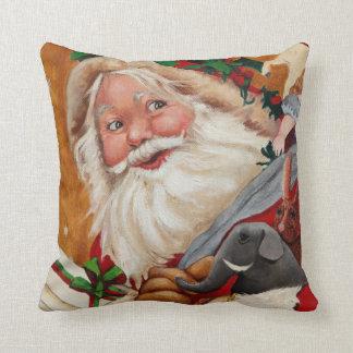 Almohada alegre de Santa