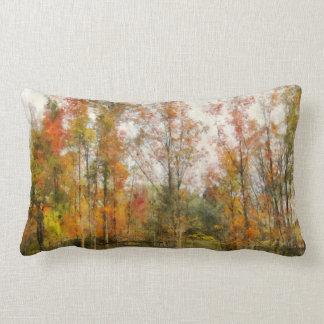 Almohada alineada árbol colorido de las