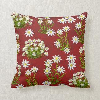Almohada alpina de las flores de Edelweiss del eur