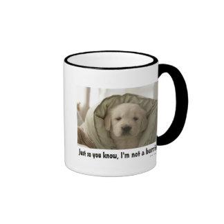 Almohada alrededor del perro tazas