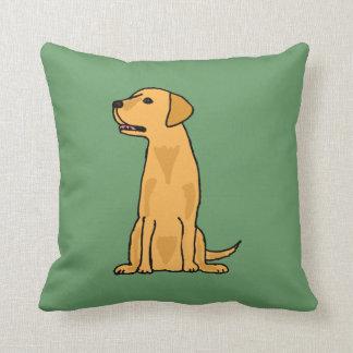 Almohada amarilla del perro de Labrador