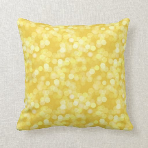 Almohada amarilla hermosa de Digitaces Bokeh