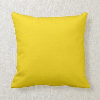 Almohada amarilla limón sólida