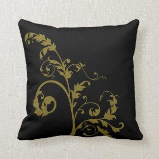 Almohada amarilla moderna de la hoja