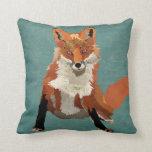 Almohada ambarina del Fox Cojín Decorativo