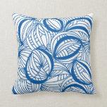 almohada/amortiguador retros azules