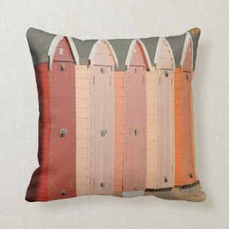 Almohada/amortiguador rosados de las chozas de la