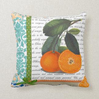Almohada anaranjada de la cocina de la fruta de la