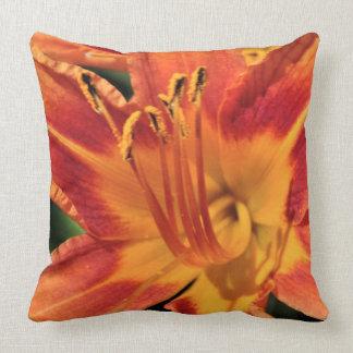 Almohada anaranjada del calor