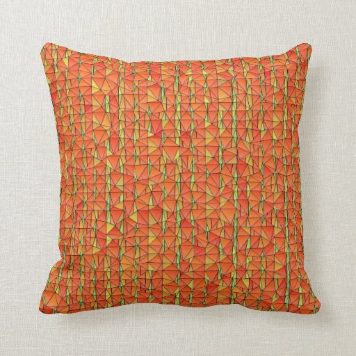 Almohada anaranjada fuerte y picante de Mojo del m