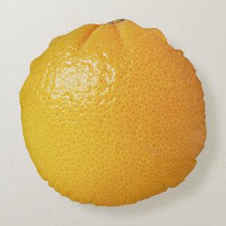 Almohada anaranjada jugosa cojín redondo