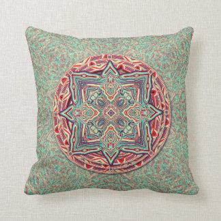 Almohada anillada de la decoración de la turquesa