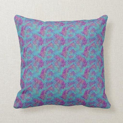 Almohada animal rosada y azul enrrollada de la imp