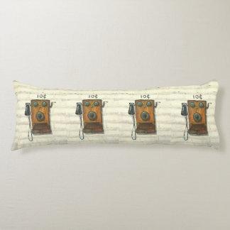 almohada antigua del cuerpo del teléfono de la cojin cama