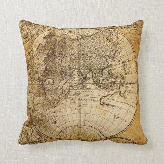 Almohada antigua del personalizado del mapa del mu