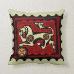 Almohada árabe del diseño del caballo