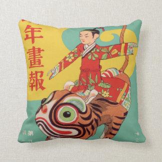 Almohada asiática del arte cojín decorativo