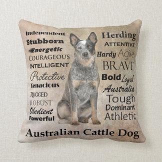 Almohada australiana de los rasgos del perro del cojín decorativo