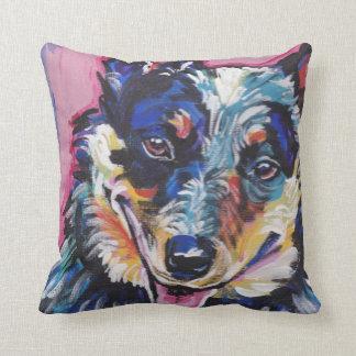Almohada australiana del arte pop del perro del cojín decorativo