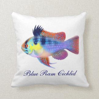 Almohada azul alemana de los pescados de Cichlid d