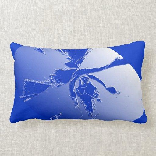 Almohada azul botánica