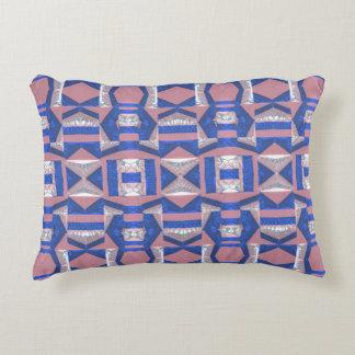 Almohada azul brillante del acento del algodón del cojín decorativo