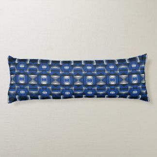 Almohada azul brillante del cuerpo del algodón del almohada larga