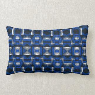 Almohada azul brillante del Lumbar del algodón del