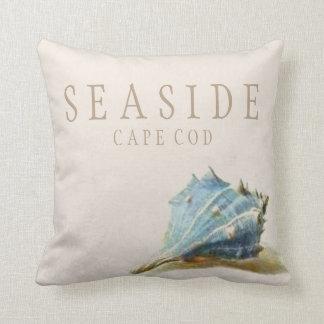 Almohada azul de Cape Cod de la playa del Seashell
