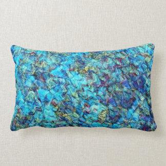 Almohada azul de la decoración del extracto de la