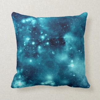 Almohada azul de la galaxia del espacio de la