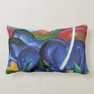 Almohada azul de los caballos de Franz Marc